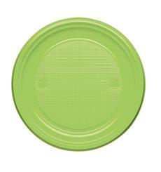 Plato de Plastico Llano Verde PS 170mm (1100 Uds)