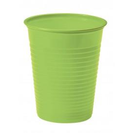 Plastic Cup PS Lime Green 200ml Ø7cm (50 Units)