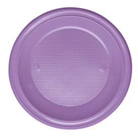 Plastic Plate PS Deep Lilac Ø22 cm (600 Units)
