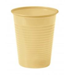 Vaso de Plastico Crema PS 200ml (50 Uds)