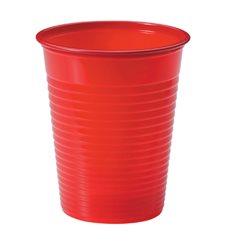 Vaso de Plastico Rojo PS 200ml (50 Uds)