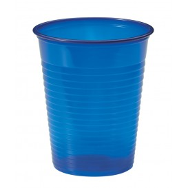 Plastic Cup PS Dark Blue 200ml Ø7cm (50 Units)