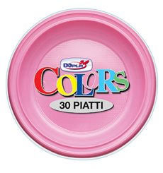 Plastic Plate PS Deep Pink Ø22 cm (600 Units)