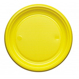 Plastic Plate PS Flat Yellow Ø22 cm (780 Units)