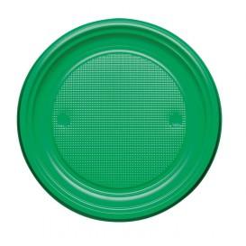 Plastic Plate PS Flat Green Ø17 cm (1100 Units)