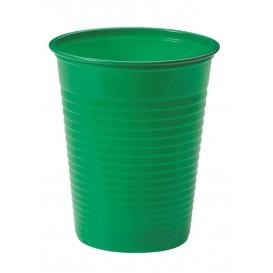 Plastic Cup PS Green 200ml Ø7cm (50 Units)