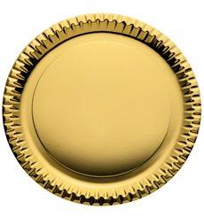 Plato de Carton Redondo Oro 290mm (60 Uds)