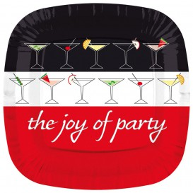 "Paper Plate Square Shape ""Joy of Party"" 17cm (8 Units)"