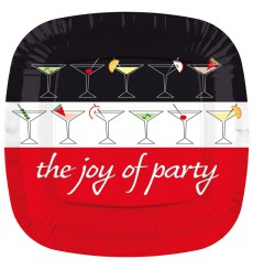 Plato de Carton Cuadrado '' Joy of Party'' 170mm (8 Uds)