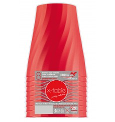 "Plastic Cup PP ""X-Table"" Red 320ml (8 Units)"