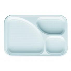 Plastic Compartment Tray White 3C 31,5x21cm (100 Units)