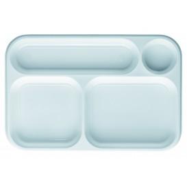 Plastic Compartment Tray White 4C 36x24cm (300 Units)