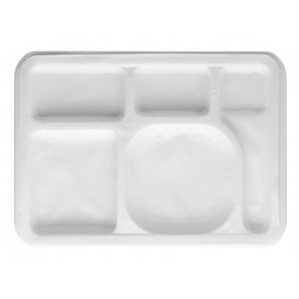 Plastic Compartment Tray Insert White 47x35cm (500 Units)