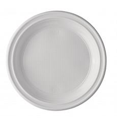 Plato de Plastico Llano Blanco 205 mm (1000 Uds)