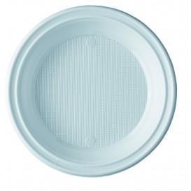 Plastic Plate PS Deep White 20,5 cm (1000 Units)