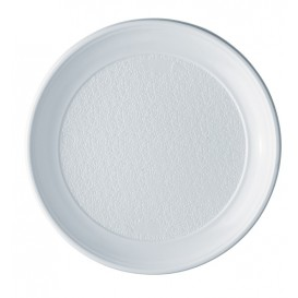 Plastic Plate PS Flat White 25 cm (100 Units)