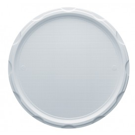 Plastic Plate PS for Pizza White 32 cm (100 Units)