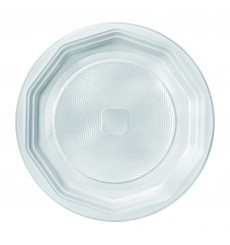 Plato de Plastico Llano Blanco PS 220 mm (1600 Uds)