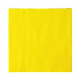 Paper Napkin 2 Layers Yellow 33x33cm (50 Units)