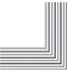 Servilleta de Papel 2 Capas Plata 33x33 cm (20 Uds)