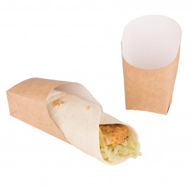 Paper Wrap Food Container Kraft 60x50x12cm (25 Units)