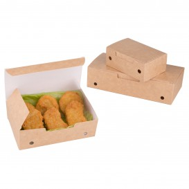Paper Take-Out Box Small size Kraft 1,15x0,72x0,43cm (25 Units)