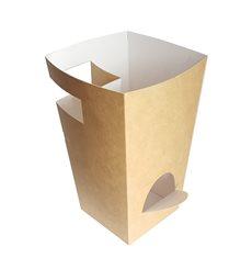 Caja Cartón Para Churros con Chocolate Kraft 78x78x179mm (20 Uds)
