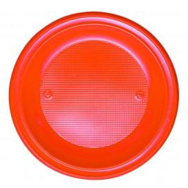 Plato de Plastico PS Hondo Naranja Ø220mm (600 Uds)