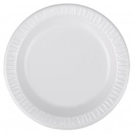 """Foam Plate Foam """"Quiet Classic"""" Laminated White 15 cm (125 Units)"""