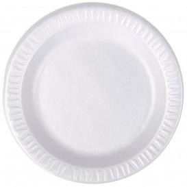 "Foam Plate ""Quiet Classic"" Laminated White Ø18 cm (125 Units)"