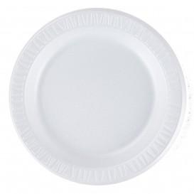 """Foam Plate Foam """"Quiet Classic"""" Laminated White Ø23 cm (125 Units)"""