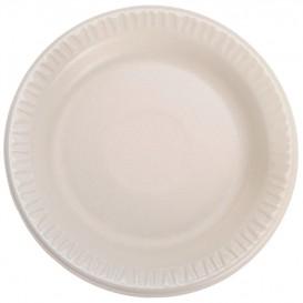 """Foam Plate Foam """"Quiet Classic"""" Laminated Honey 15 cm (125 Units)"""