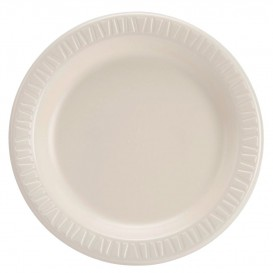 "Foam Plate Foam ""Quiet Classic"" Laminated Honey Ø23 cm (125 Units)"