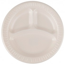 "Foam Plate Foam ""Quiet Classic"" 3 C. Laminated Honey Ø23 cm (500 Units)"