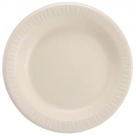 "Foam Plate Foam ""Quiet Classic"" Laminated Honey Ø26 cm (125 Units)"