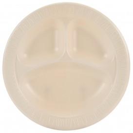 "Foam Plate Foam ""Quiet Classic"" 3 C. Laminated Honey Ø26 cm (500 Units)"