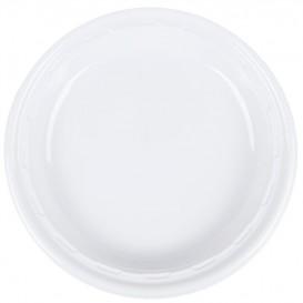 """Plastic Plate PS """"Famous Impact"""" White Ø26 cm (500 Units)"""