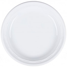 """Plastic Plate PS """"Famous Impact"""" White Ø23 cm (500 Units)"""