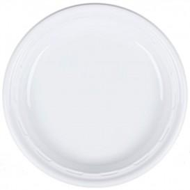 """Plastic Plate PS """"Famous Impact"""" White Ø23 cm (125 Units)"""
