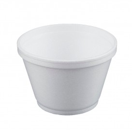 Foam Container White 6Oz/180ml Ø8,9cm (50 Units)