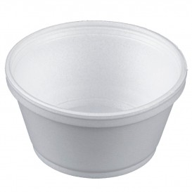 Foam Container White 8Oz/240ml Ø11cm (50 Units)