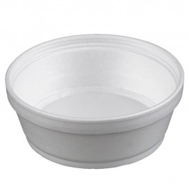 Foam Container White 8Oz/240ml Ø11,7cm (500 Units)