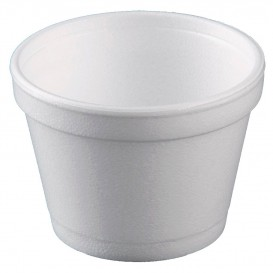 Foam Container White 12 Oz/355ml Ø11cm (25 Units)
