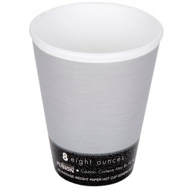 "Foam Cup Fusion ""Steele"" 8Oz/266ml Ø8,1cm (25 Units)"
