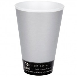 "Foam Cup Fusion ""Steele"" 16Oz/473ml Ø9,4cm (25 Units)"