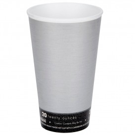 "Foam Cup Fusion ""Steele"" 20Oz/591ml Ø9,4cm (20 Units)"