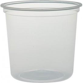 """Plastic Deli Container PP """"Deli"""" 24Oz/710ml Clear Ø12cm (25 Units)"""