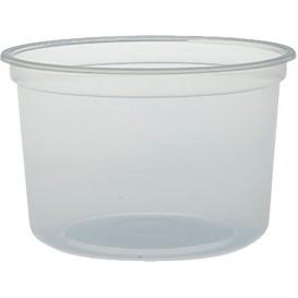 """Plastic Deli Container PP """"Deli"""" 16Oz/473ml Clear Ø12cm (25 Units)"""