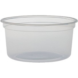 "Plastic Deli Container PP ""Deli"" 12Oz/355ml Clear Ø12cm (25 Units)"