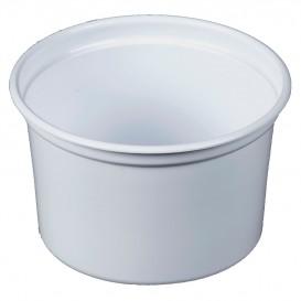 """Plastic Deli Container PP """"Deli"""" 16Oz/473ml White Ø12cm (500 Units)"""
